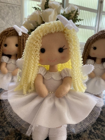 Anjinha para decoração de Batizado