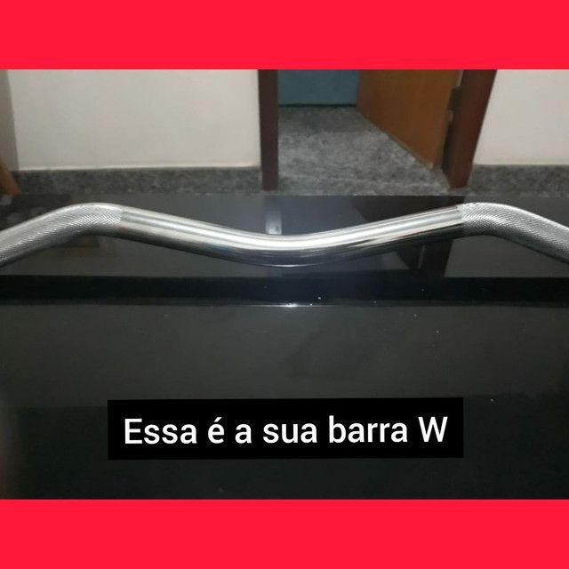 Barra W maciça c/ rosca, recartilhada e zincada - Foto 4