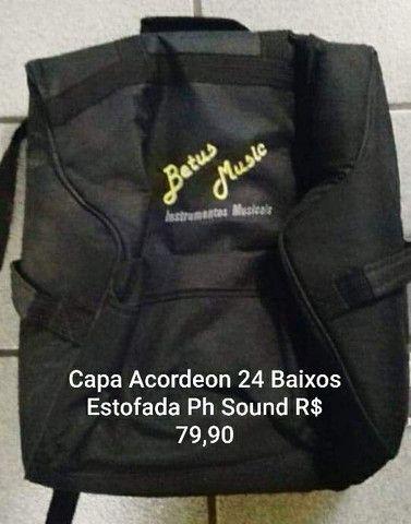 Capa Acordeon 24 baixos Ph Sound estofada