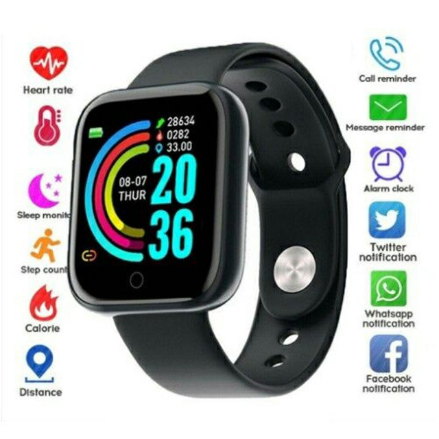 Relógio smartwatch y68 - Foto 2