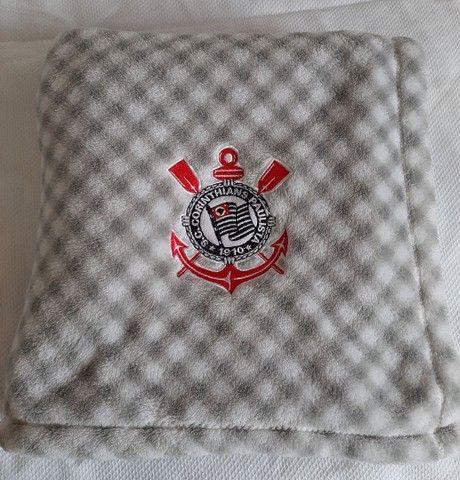 Cobertor para bebê Corinthians  - Foto 3