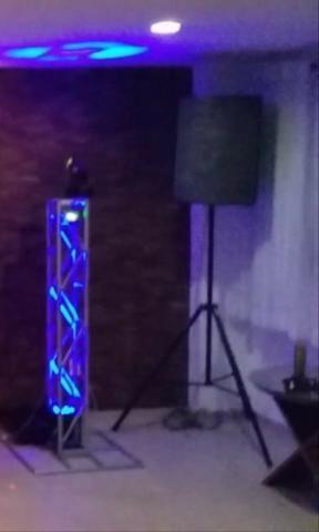 Kit som com iluminação para sua festa 200 reais