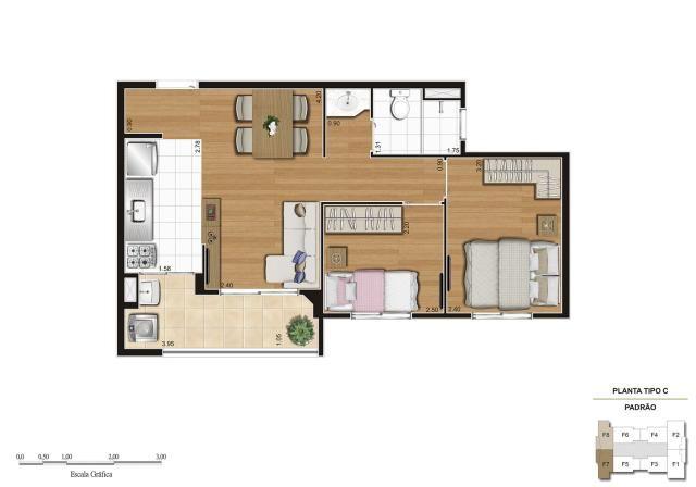 Apartamento em Vila Galvão, com 2 quartos, sendo 1 suíte e área útil de 55 m² - Foto 14