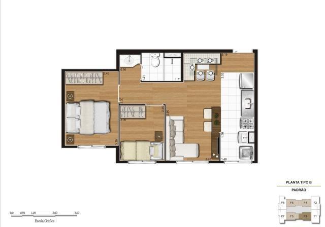 Apartamento em Vila Galvão, com 2 quartos, sendo 1 suíte e área útil de 55 m² - Foto 11