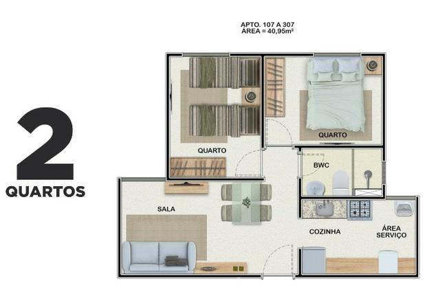 CB Apartamento no Janga com 2 quartos e lazer completo. Subsídio de até R$ 21.000,00 - Foto 2