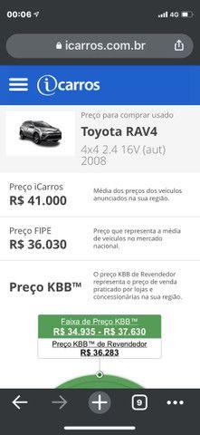 Vendo Carro Rav4 Toyota 2008 4x4 completa   - Foto 4