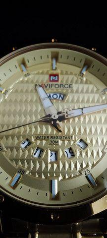 Relógio Dourado Naviforce NF9115M - Foto 4