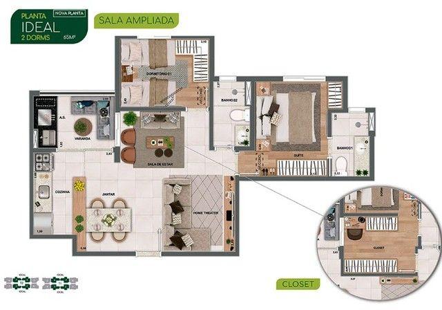 J/AC- Belíssimo lançamento no Parque Industrial, com 2 ou 3 dormitórios!
