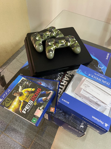 Playstation 4 ps4 com 2 controles - Foto 4