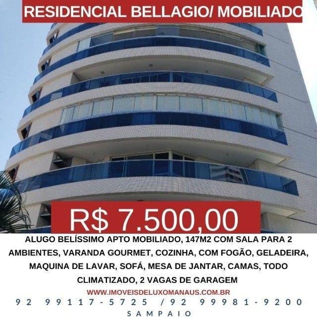 Alugo  M-O-B-I-L-I-A-D-O, 3 suítes, 2 vagas R$7.500,00