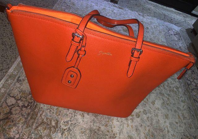 Bolsa Jorge Alex nova laranja grande  - Foto 2
