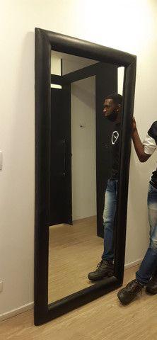 Espelho de Parede ou Chão com Borda em Courino - Foto 4