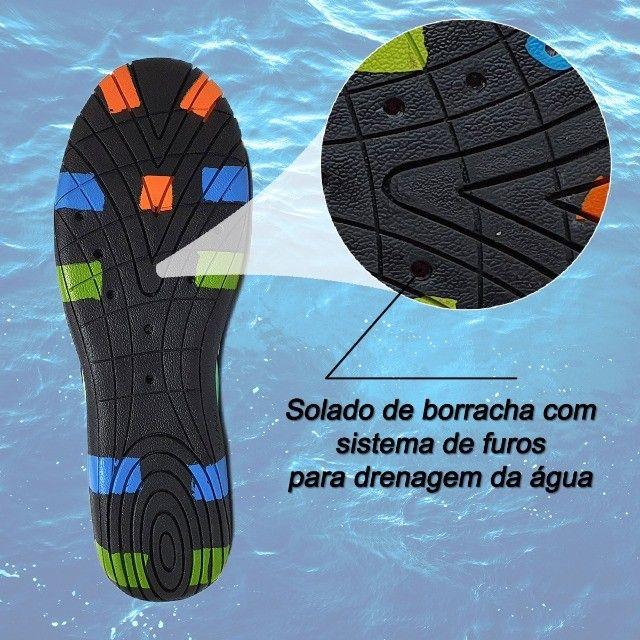 Sapatilha Tênis Hibrida Neoprene Leve Confortável  - Foto 5