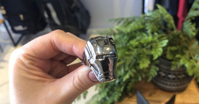 Anel de aço inoxidável - Homem de ferro
