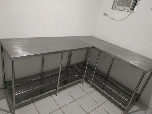 Mesa de inox coifa estante  - Foto 4