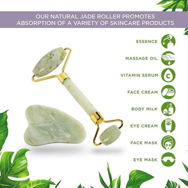 Kit de Jade Massageador Roller + Pedra Gua (a104) - Foto 2