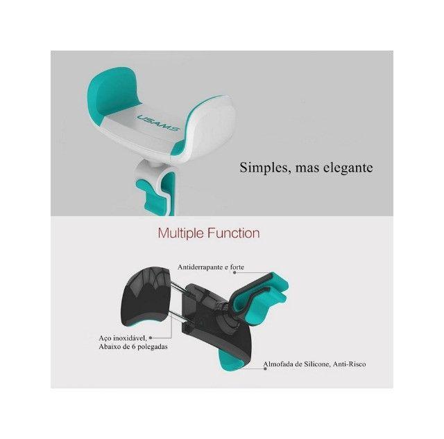 Suporte Veicular para Celular Antiaderente Almofada de Silicone - Foto 2
