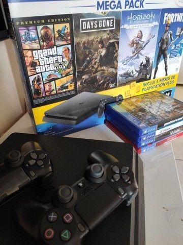 Playstation 4 1TB Semi-Novo com jogos  - Foto 2