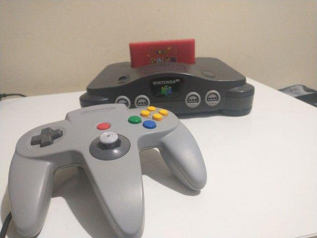 Nintendo 64 com everdrive e expansor pac - Foto 5