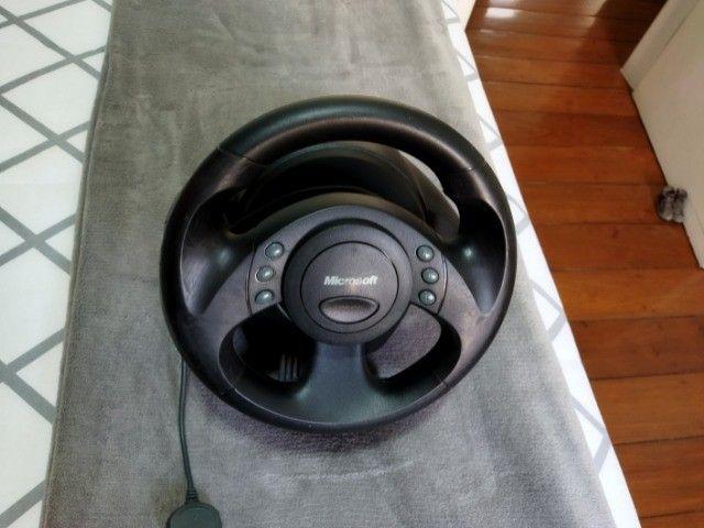 Volante jogos Microsoft SideWinder Force Feedback Wheel - R$350,00/unidade - 3 unidades - Foto 2