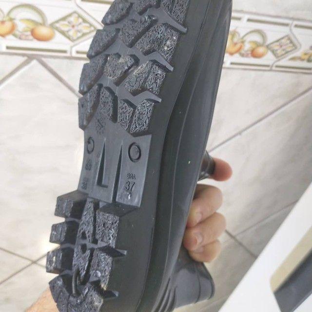 Bota sapato N 37,Cano curto,Borracha,Crival,NOVA/ACEITO TROCA - Foto 6