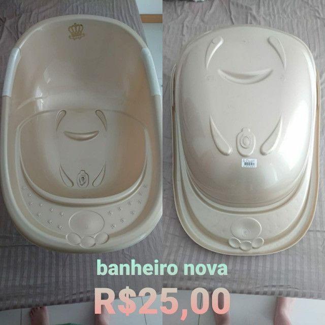 Banheira Conforto, 34 L, Adoleta Bebê, Dourada