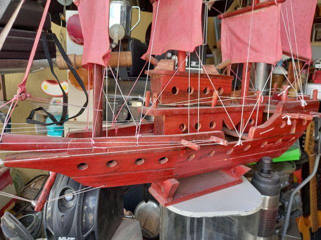 Barco antigo madeira .leia a  baixo  - Foto 2
