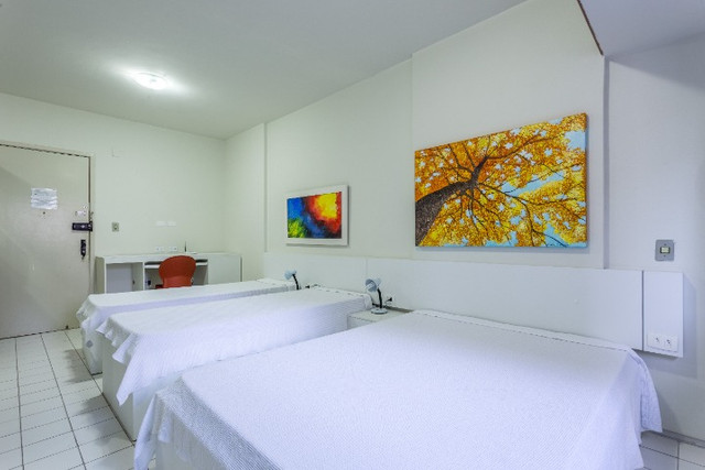 Flat 305 tipo studio, hospeda 03 pessoas, sendo uma cama de casal mais 01 cama de solteiro - Foto 3