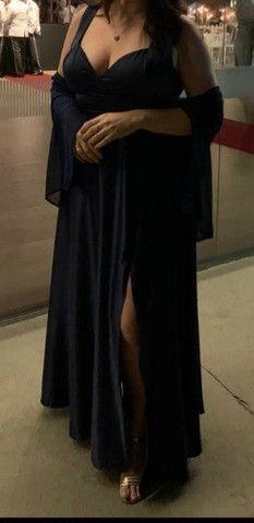 Vestido de festa GG com fenda