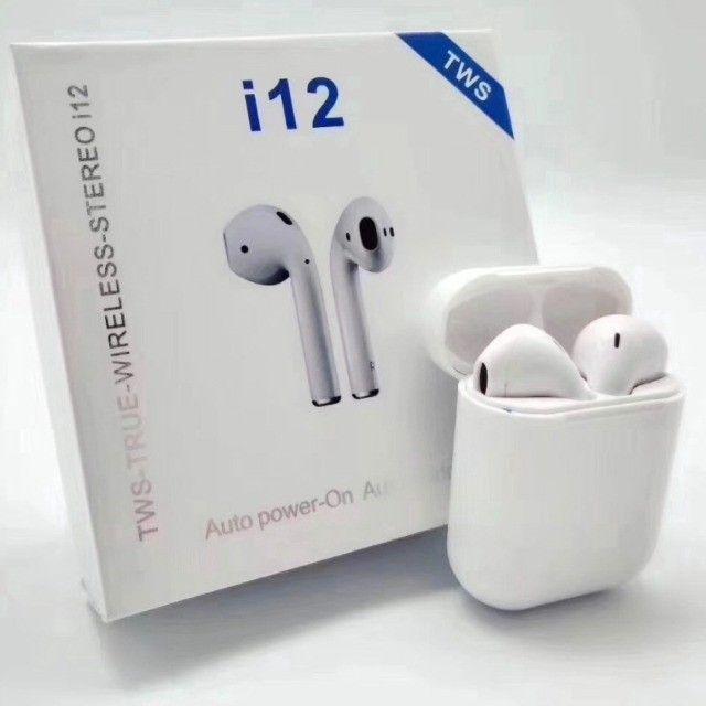 Fone Bluetooth sem fio i12 TWS