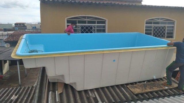 piscina de fibra instalada - Foto 3