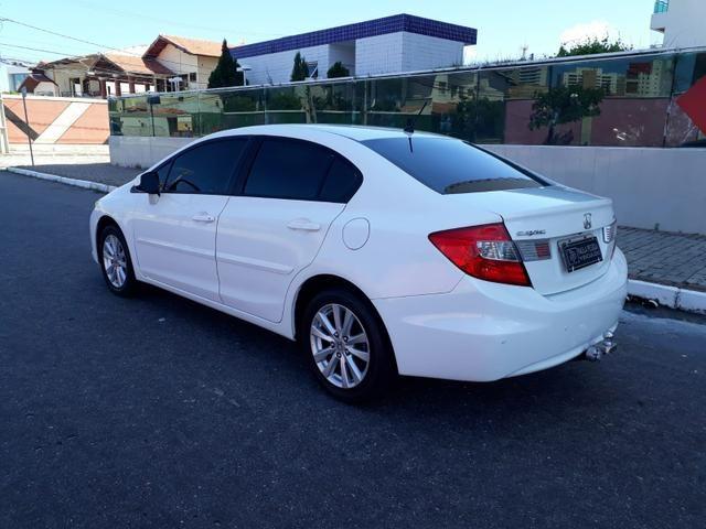 Honda Civic LXS 1.8 flex, automático, Branco, super novo - Foto 3