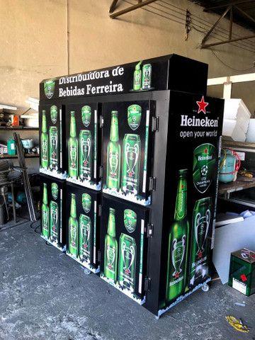 Equipamentos para distribuidora de bebidas cervejeiras e câmera fria
