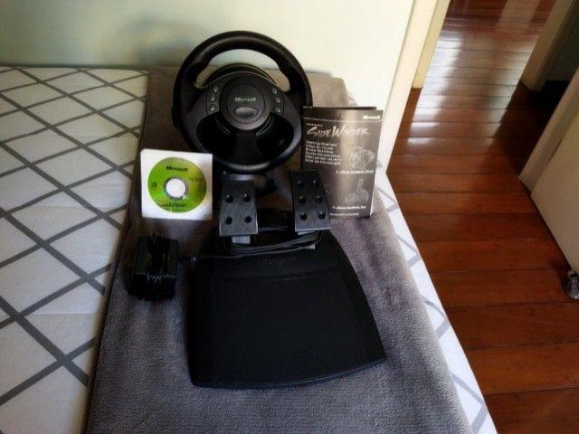 Volante jogos Microsoft SideWinder Force Feedback Wheel - R$350,00/unidade - 3 unidades