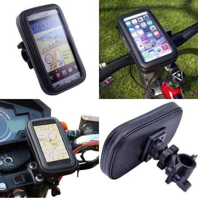Suporte Celular Para Bicicleta Moto A Prova D'agua Barato - Foto 2