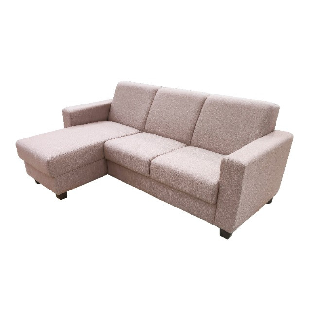 Sofá Chaise 3 lugares tecido bege - Foto 5