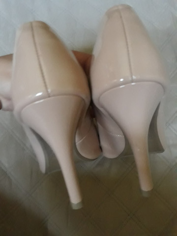Sapato Scarpin Bico Fino Rosê - Foto 5