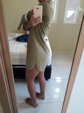 Vestido estilo camisa social  - Foto 3