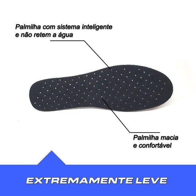 Sapatilha Tênis Hibrida Neoprene Leve Confortável  - Foto 4