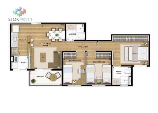 Apartamento com 3 dormitórios à venda, 67 m² por R$ 388.500 - Vila Augusta - Guarulhos/SP - Foto 2