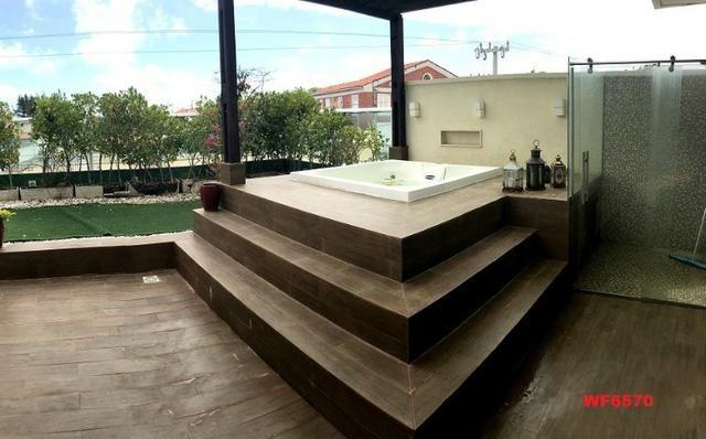 Condomínio Stellarium, casa tríplex com 5 suítes, 8 vagas de garagem, Elevador - Foto 18