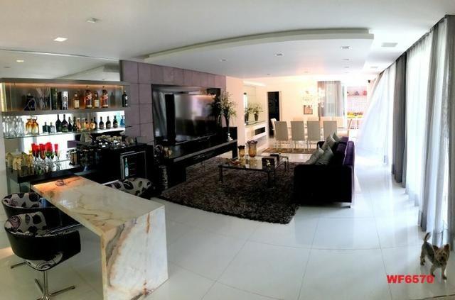 Condomínio Stellarium, casa tríplex com 5 suítes, 8 vagas de garagem, Elevador - Foto 5