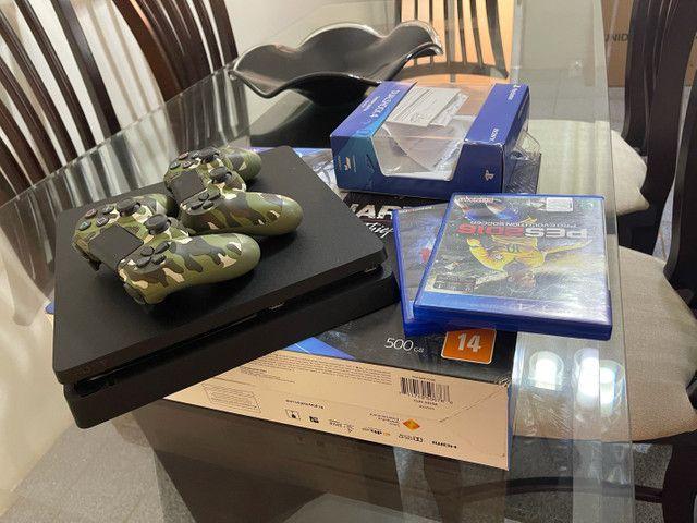 Playstation 4 ps4 com 2 controles - Foto 3