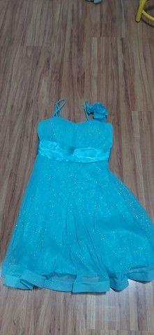 Vestido festa azul pastel