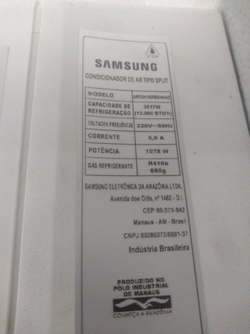 Ar condicionado Samsung inverter 12000 BTUs 220v R$ 1.300 - Foto 6