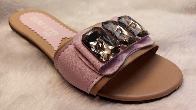 kits 12 pares de rasteirinhas sandalia atacado revenda e sacoleiras  - Foto 5