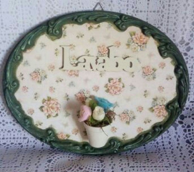 Placa decorativa lavabo
