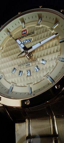 Relógio Dourado Naviforce NF9115M - Foto 5
