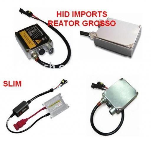 Reator e Lâmpada Xenon Reposição H1 H3 H4 H7 H11 Hb3 Hb4 H27 Carro Moto Caminhão 12V 24V