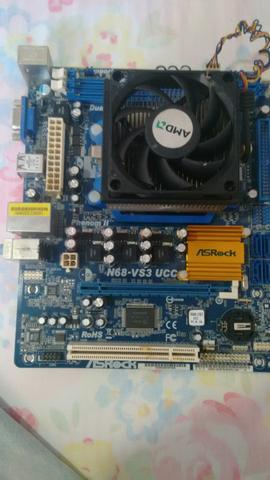 Placa mae am3 asrock n68-vs3ucc ddr3
